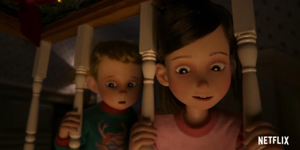聖夜の来客の2人の子供
