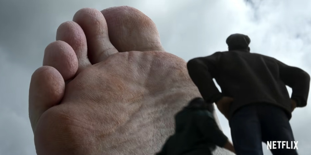 おぼれた巨人の足